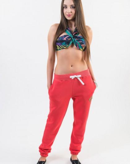 ..Spodnie damskie dresowe Go2hel w kolorze koralowym