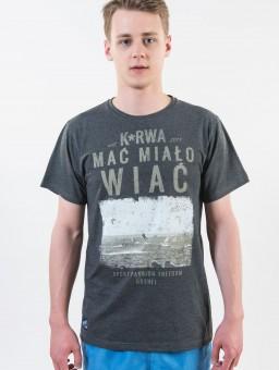 ..Koszulka męska Go2hel Ku*wa mać miało wiać grafitowa NEW