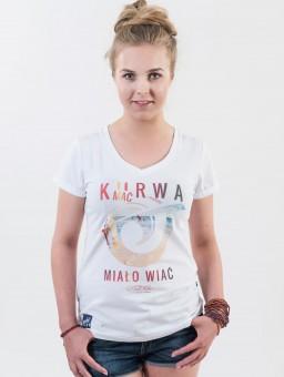 ...Koszulka damska Go2hel Ku*wa mać miało wiać logo