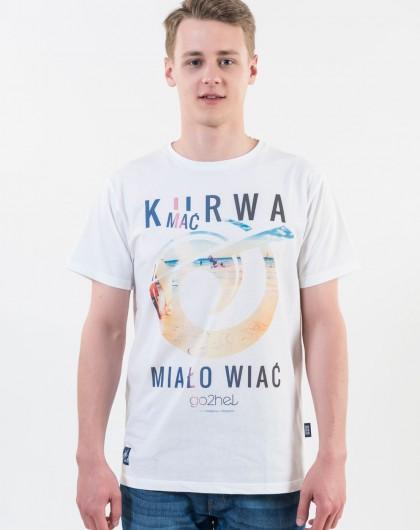...Koszulka męska Go2hel Ku*wa mać miało wiać logo
