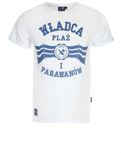 Koszulka męska go2hel Władca Plaż biała