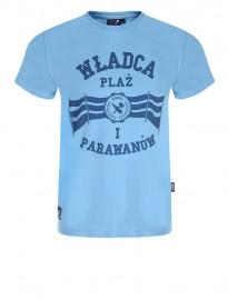 Koszulka męska go2hel Władca Plaż niebieska