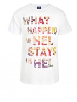 .Koszulka męska Go2hel what happens in hel stays in hel