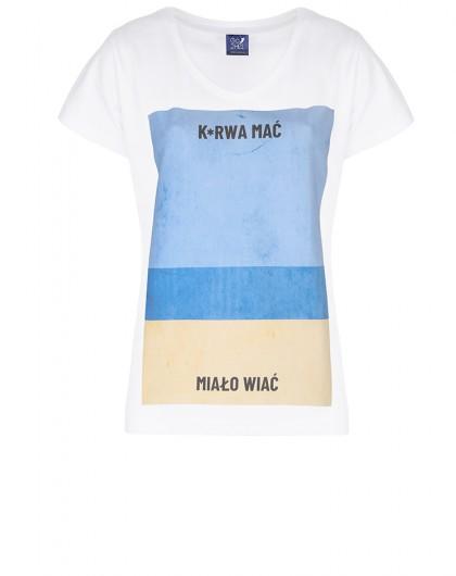 .Koszulka damska Go2hel ku*wa mać plaża